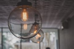 Clear Round Glass Bulbs Inside Room Royalty Free Stock Image