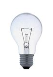 Clear screw lightbulb on white Royalty Free Stock Images