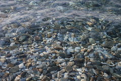 Clear sea as backround. You can see the stones in clean sea Stock Photos