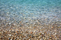 Clear sea background in sunny weather Stock Images