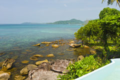 Clear sea and blue sky of Kood island Royalty Free Stock Image