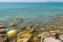 Clear sea and blue sky of Kood island. Clear sea on the coast of Kood island in Thailand Royalty Free Stock Photo