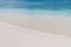 Clear sea with calm wave on beach. Small calm wave roll to the beach with white sand at Similan islannd, Thailand Stock Image