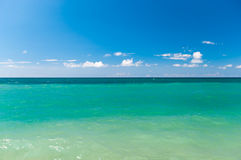 Clear sea horizon. Summer and nobody Stock Photography