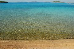 Clear sea panorama Royalty Free Stock Photos