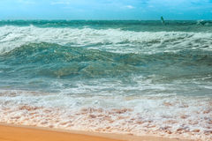 Clear Sea Resort Water with waves Beautiful Stock Image