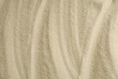 Clear sea sand as background, space for text and closeup. Summer vacation. Background royalty free stock photography