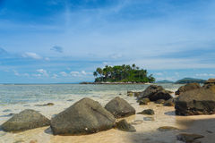 Clear sea and tropical island, Phuket, Thailand Royalty Free Stock Photo