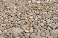 Sea shallow as a background. Clear sea water in a shallow cover with pebbles suitable as a background Royalty Free Stock Images