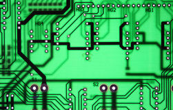 Clear seamless chipset board texture background Royalty Free Stock Images