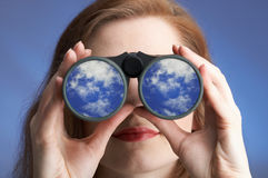 Clear sighted woman Royalty Free Stock Photos