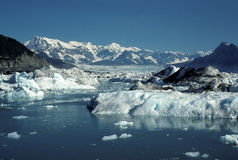 Clear skies on the Columbia Glacier Royalty Free Stock Photography