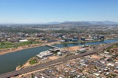 Clear Skies over Tempe, Arizona Stock Images