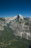 Clear skies shine down on Half Dome in Stock Photo