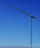 Clear sky building crane Stock Image