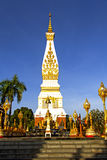 Clear sky Chedi  Phra That Phanom Royalty Free Stock Photo