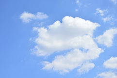 Clear sky with cloud. Royalty Free Stock Photos
