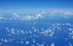Clear sky with clouds Royalty Free Stock Photo