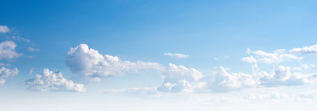 Clear sky and clouds stock photography
