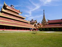 Clear sky at Mandalay Palace. One fine day with the clear sky at Mandalay Palace in Myanmar royalty free stock images