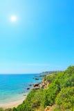 Clear sky over Alghero shoreline Stock Photo