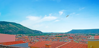 Clear sky over Bosa Stock Photography