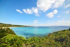 Clear sky over Lazzaretto beach in Sardinia Stock Photo