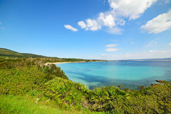 Clear sky over Lazzaretto beach Royalty Free Stock Photography