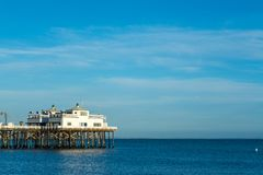 Clear sky over Malibu Pier in Los Angeles. California, USA Royalty Free Stock Photography