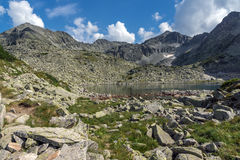 Clear sky over Musala and Irechek peaks and Musalenski lakes,  Rila mountain Stock Photo