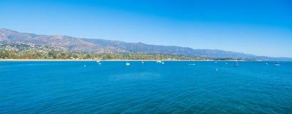 Clear sky over Santa Barbara blue sea Stock Photo
