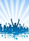 Clear Sky Party Crowd Royalty Free Stock Images