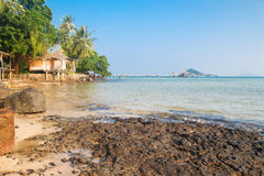 Clear sky and sea at Koh Mak, Thailand Royalty Free Stock Photos