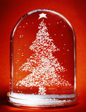 Christmas Tree Snow Globe Stock Images
