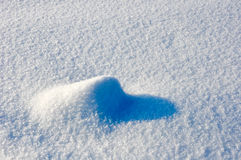 Clear snow on sunny day Royalty Free Stock Image