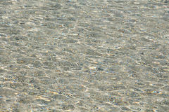 Clear soft rippled water surface background Stock Images