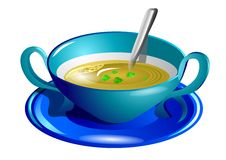 Clear soup Royalty Free Stock Image