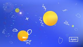 Common abstract space fantasy  breezy. vector illustration