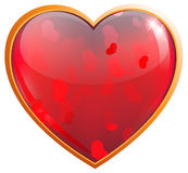 Clear sparkling heart. Stock Image