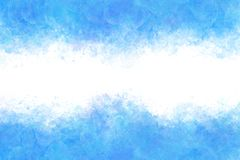 Summer blue cold ice abstract or vintage watercolor paint background. Clear summer blue cold ice abstract or vintage watercolor paint background stock illustration