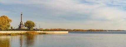 The embankment of the Volga river in Yaroslavl royalty free stock images