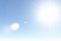 Clear Sunny Sky in Summer Royalty Free Stock Photos