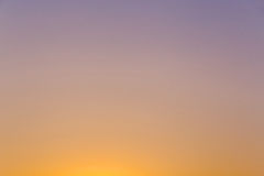 Clear sunset sky. View on clear sunset sky Stock Photography