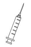 clear syringe icon Royalty Free Stock Photo