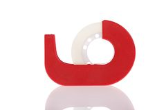 Free Clear Tape Dispenser Isolated On White Royalty Free Stock Photo - 11973555