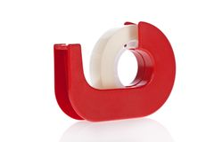 Clear tape dispenser isolated on white Stock Image