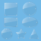 Clear tint glass plate set Stock Image