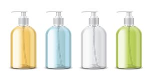 Clear Transparent Bottles for Soap Stock Images