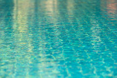 Clear transparent pool water background Royalty Free Stock Photography