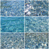 Clear transparent sea water set Stock Photo
